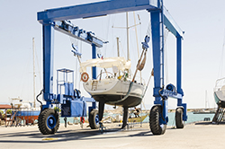 Travel Lift for Boat Removal